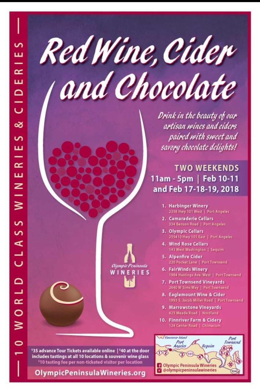 10 World Wineries Red Wine, Cider and Chocolate Tours Washington Pennisula